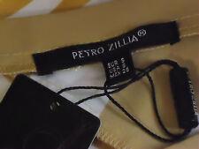 PETRO ZILLIA,US SilkyDiagonalStripedSmartShort SzS NWT