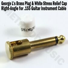 George L's BRASS RIGHT-ANGLE Plug & WHITE STRESS JACKET for .155 Cable Kits