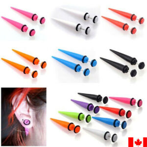 Pair Acrylic fake ear taper cheater stretcher river plug tunnel gague punk gift