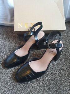 NEXT Forever Comfort Block Heel  Strappy Sandals Shoe UK 7 , EU 41 NEW RRP £38