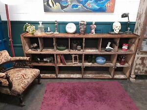 Wooden Pigeon Holes shelf unit sideboard
