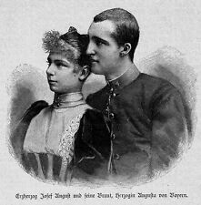 PORTRÄTS**VERLOBUNG**ERZHERZOG JOSEF AUGUST + HERZOGIN AUGUSTE VOB BAYERN**1893*