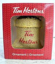 "Tim Hortons ""SACK OF COFFEE BEANS"" Christmas Ornament 2016"