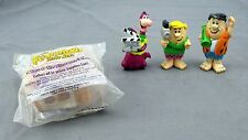 Lot of 4 Flintstones Fred Barney Dino Hollyrock Movie Director Figures Toys