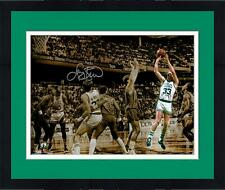 "Framed Larry Bird Boston Celtics Autographed 11"" x 14"" Spotlight Photograph"