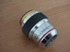 Unused DIN Microscope objective 4x/0.1 160/0.17  excellent