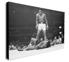 Muhammad Ali vs Sonny Liston Canvas Wall Art Framed Print. Various Sizes