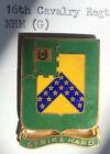 16th Cavalry Regt NHM (G) DUI DI Unit CrestOriginal Period Items - 13982