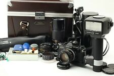 """""""Exc+5"""" Canon AE-1 Black Full Set in Etsumi Camera Box from Japan #068"""
