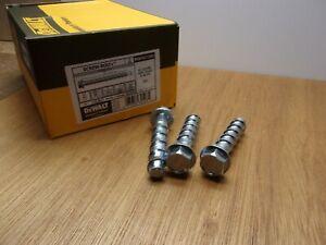 """(Qty.50) 1/2"""" X 3"""" PFM1411380 DeWalt Concrete Anchor Screw-Bolt + Steel Zinc SB+"""