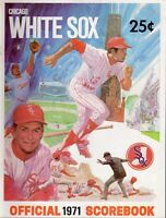 1971 (May 7) Baseball program New York Yankees @ Chicago White Sox, unscored ~VG