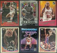 Lot of (6) Dennis Rodman, Including Prizm red wave, Optic purple & other inserts