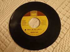 MARVIN GAYE THAT'S THE WAY LOVE IS/GONNA KEEP ON TRYIN TAMLA 54185 M-