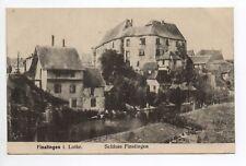 FENETRANGE finstingen Moselle CPA 57 sarre lavage chateau