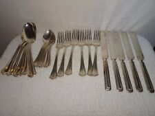ANTIQUE W.M.A. ROGERS  SXR PAT. PEND. MAY, 14 SILVER PLATE SILVERWARE