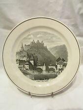 ancienne assiette en faience villeroy & boch vianden luxembourg vers 1857
