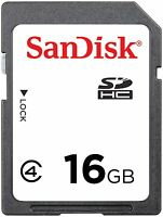 SanDisk 16GB 16 G Class4 SD SDHC Secure Digital Card for Camera C4 Class 4 Bulk