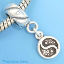 Yin Yang Chinese Symbol .925 Solid Sterling Silver European Dangle Bead Charm