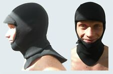 3mm Full Surf Hood Balaclava Cap. Bibbed Tuck in Neck Gusset & Drawstring Face