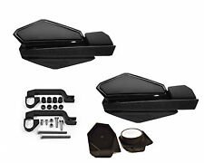 PowerMadd STAR Series Handguard Guards Mirror Mount Kit Black/Black Suzuki ATV