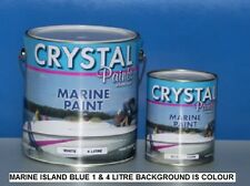 MARINE PAINT 1 X 4 LITRE ISLAND BLUE  1 PAC  BRUSH, ROLL, SPRAY DELIVERED