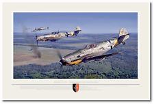 JG 52 - Kampagne im Osten by Jack Fellows - Me 109 - Aviation Art Prints