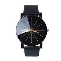 New Men Women Couple Watches Vintage Quartz Analog PU Leather Wrist Watch Gift