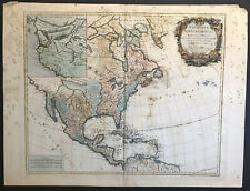 New ListingVaugondy 1775 Large Antique Map Of North America Amerique Septentrionale