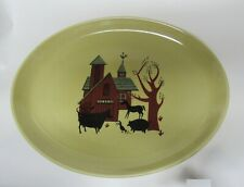 Iroquois Casual China by Russel Wright Oval Platter Barnyard Sheffield Pottery