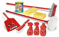 Nuevo Casdon Little Helper Henry Housekeeping 12 Pieza Playset de Juguete Escoba
