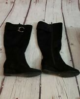 Impo Gitali Womans Knee High Wedge Boot Black Size 7.5 Wide Width Wide Calf
