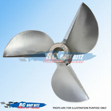 RC Boat CNC sharpen/balanced 3 blade prop REVERSE 44mm 4.76mm 1.6p 4416R