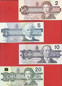 Canada 1986-91 $2 5 10 20 BIRDS series BONIN * THIESSEN set of 4