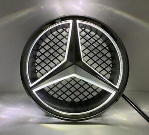 Black For Mercedes Benz C/ W204 Illuminated Led Front Star Grille Emblem Light