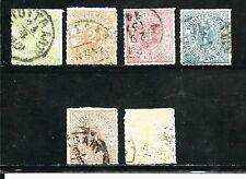 Germany Wurttemberg Stamps- Scott # 47-52a/A3-Set-Canc/H-1869-73-52a(Lemon)