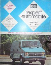 Revue technique CITROEN C25 ESSENCE DIESEL EXPERT N° 192 1982 C 25