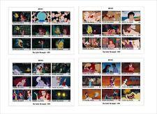 2018 Disney The Little Mermaid 4 SOUVENIR SHEETS animation cartoons