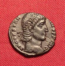 Ancient Roman Bronze AE4 Coin, Constantius