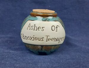 Ashes of Obnoxious Teenagers Jar Magnetic Cork Lid Multicolored Survivor Gag