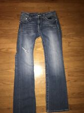 Miss Me Jeans Women 29x34 Cross Wing Rhinestone Denim Bootcut Distressed