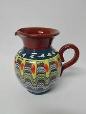Jarra de ceramica esmaltada pintada a mano 1/2 Litro vino agua COLOR A ELEGIR