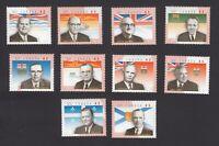 10 PROVINCIAL PREMIERS Canada 1998 CV$15.00 Set of 10 stamps #1709a-j MNH q05