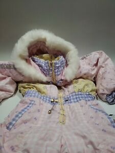 Youth girls Obermeyer Ski Snow Suit Kids Size 7 Preschool Hooded Vintage Winter