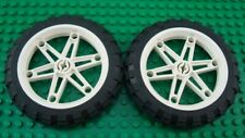 LEGO Lot of 2 Large Motorcycle 81.6X15 Technic Tires