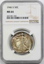 1946-S Walking Liberty Half Dollar 50C MS 64 NGC Toned