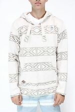 New NEFF Mens Up North Pancho Hoodie Sweater Tan Tribal Stripes Medium M BW1