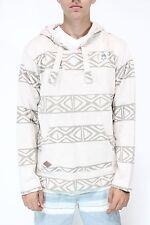 New NEFF Mens Up North Pancho Hoodie Sweater Tan Tribal Stripes Medium M BW1