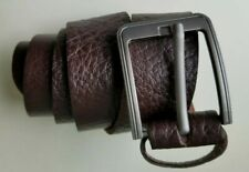 Men's Classic Metal Buckle Handcrafted Genuine  Full Grain Leather Belt