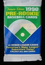 1990 MLB Pre Rookie Baseball Cards Sealed Pack Minor League Limited Quantities