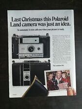 Vintage 1969 Polaroid Countdown 350 Camera Christmas Full Page Original Color Ad